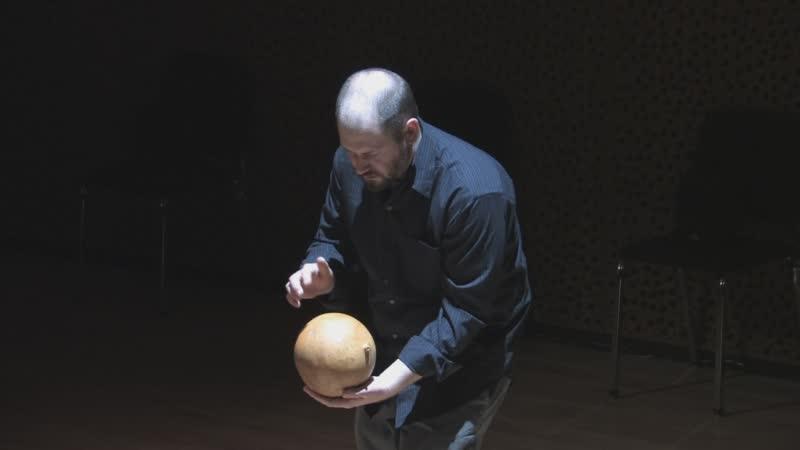 Man playing digital instrument.